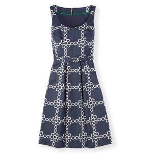 Boden Ava Daisy Chain Slate Gray Belted Dress 4